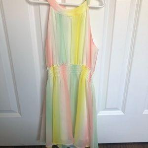Girls Small Pastel Chiffon Dress